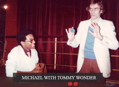 Michael with Tommy Wonder